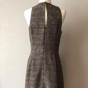 Banana Republic Dresses - Banana Republic Tweed Racer Neck Dress Size 10